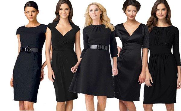 siyah gündelik elbiseler